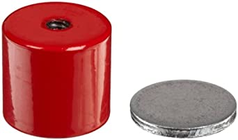 "Cast Alnico 5 Assembly With Keeper, 1-3/8"" Diameter, 1-3/16"" Thick, 1/4""-20 Threaded Mounting Hole (Pack of 1)"