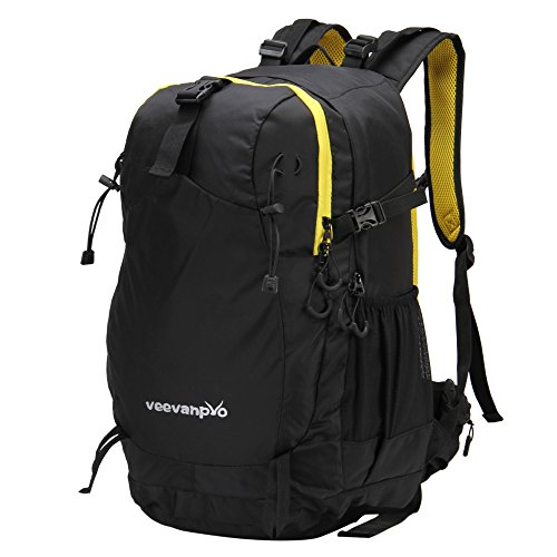 Hynes Eagle Outdoor Sports Hiking Daypacks Internal Frame Camping Hiking Backpacks (Black 32L)