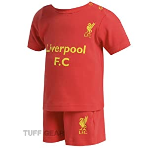 Liverpool FC Baby Short & T-Shirt Set Home Football Kit Little Liver Licensed (12-18 Months)