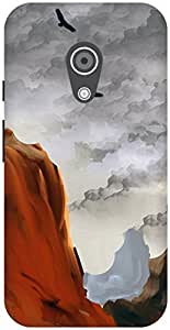 The Racoon Lean printed designer hard back mobile phone case cover for Moto G 2nd Gen. (Coast)