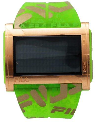 Fila FA0773-04 Camouflage Women's Digital Red LED Green Logo Strap Watch