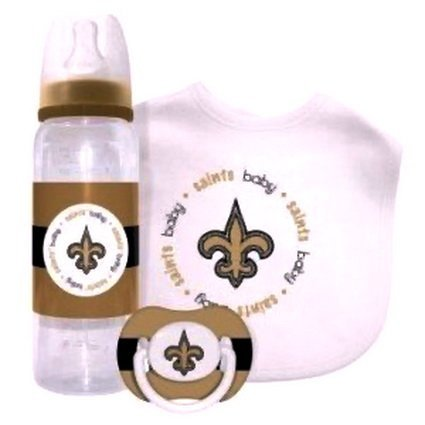 NEW ORLEANS SAINTS NFL Baby Gift Set: Kickoff Collection 3-Piece Baby Feeding Set at Amazon.com