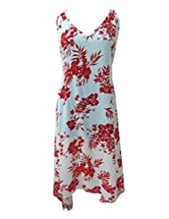 SUNROSE Hawaiian Printed Long Tube Dress Party Wear Tunic