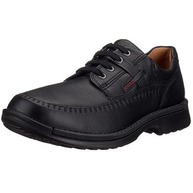 亚马逊美国_ECCO爱步Fusion Moc Oxford男款休闲皮鞋棕色款