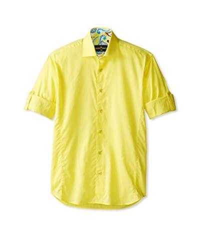 Bertigo Men's Solid Long Sleeve Shirt