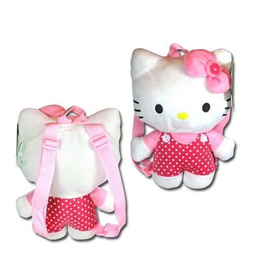 NWT-Sanrio-Hello-Kitty-Plush-Backpack-Pink-with-Dot-JoyAve