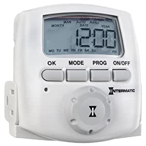 Intermatic DT620 Heavy Duty Indoor Digital Plug-In Timer, White