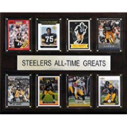 NFL All Time Greats Plaque - Pittsburgh Steelers - Cherry Wood with Licensed