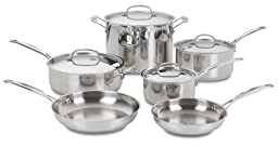 Cuisinart 77-10 Chef\'s Classic Stainless 10-Piece Cookware Set