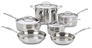 Best Cookware Set - Cuisinart 77-10 Chef's Classic Stainless 10-Piece Cookware Set Review
