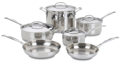 Cuisinart 7710 Chef's Classic Stainless 10Piece Cookware Set Picture