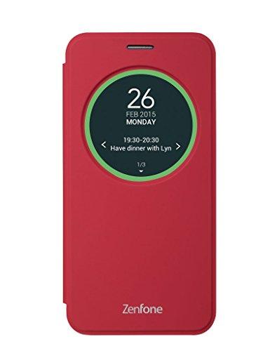 エイスース ASUS ZenFone2(ZE500KL)用フリップカバー(レッド)View Flip Cover 90AC00G0-BCV015