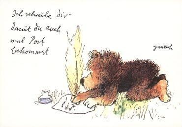Janosch Postkarte Ich schreibe Dir...