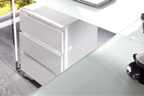 exklusiver design eck schreibtisch studio glas weiss com forafrica. Black Bedroom Furniture Sets. Home Design Ideas