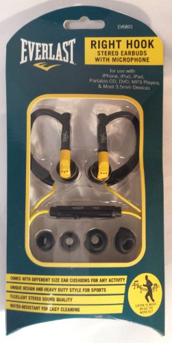 Everlast Right Hook Stereo Earbuds With Microphone
