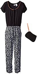 Pogo Club Big Girls\' Hailey Jumpsuit and Purse, Black, Small