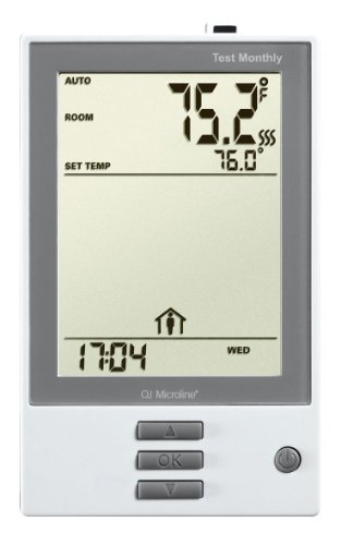 Oj Floor Heating Thermostat, Programmable, Built-In Gfci, Floor & Air Sensors, 120V-240V