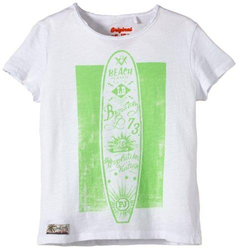 Pepe Jeans Jungen T-Shirt CESAR, Gr. 176 (Herstellergröße: L), Weiß (WHITE 800)