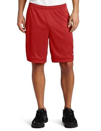 Champion 81622 Long Mesh Shorts With Pockets SCARLET Small