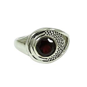 anneau de pierre gemme grenat 925 bijoux en argent bijoux de mode