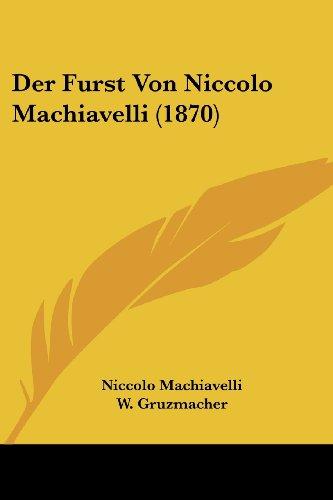 Der Furst Von Niccolo Machiavelli (1870)