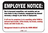 Laughter Revolution Sign Employee Notice (Pack of 5)