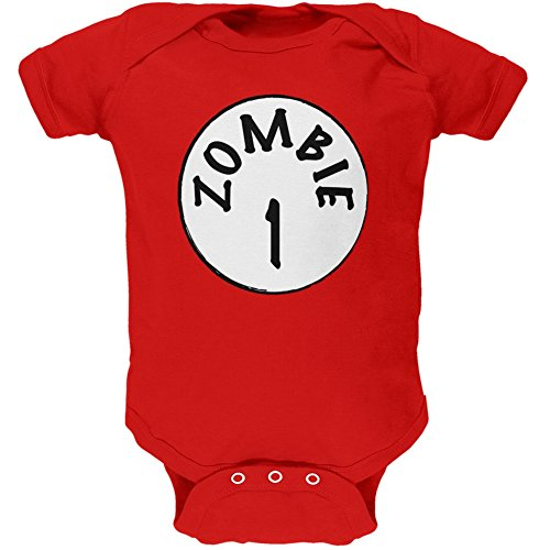 Halloween Zombie 1 One Costume Red Soft Baby One Piece