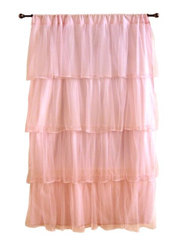 Tadpoles Tulle Curtain Panel, Pink/Purple, 84""
