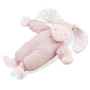 North American Bear Company Sleepyhead Bunny Pink, Pink Stripe, Large