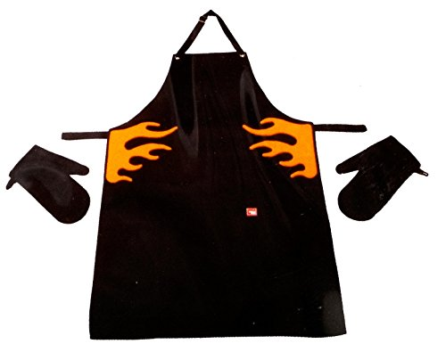 vacu-vin-hands-free-apron-and-mittens-with-velcro-attachment-black-and-orange