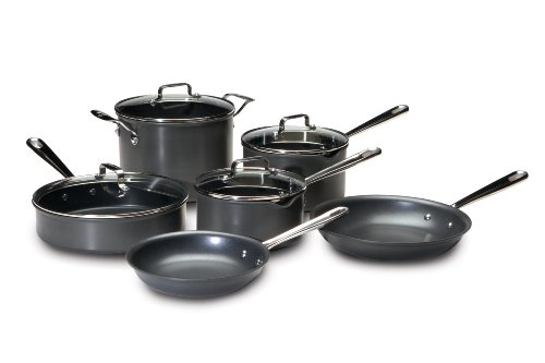 Emeril by All-Clad E838SA Hard Anodized Cookware Set, 10-Piece, Black