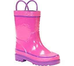 Western Chief Kids Solid Firechief Rain Boot(Toddler/Little Kid/Big Kid),Pink,8 M US Toddler
