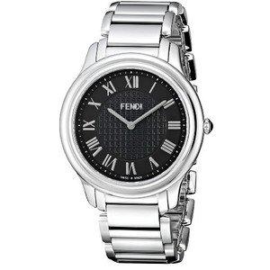 腕時計 Fendi Men's F251011000 Classico Analog Display Quartz Silver Watch [並行輸入品]