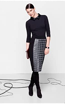 Metallic Houndstooth Skirt