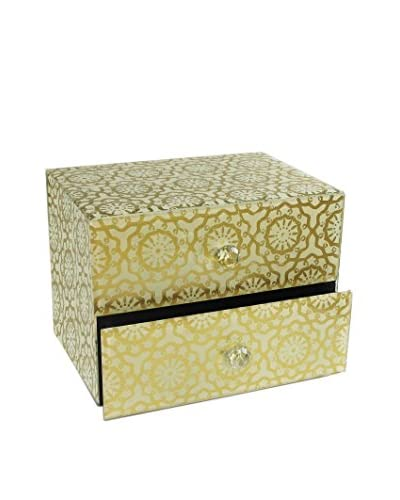 American Atelier Floral Medallion 2-Drawer Jewelry Box, Gold