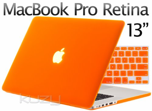 Review:  Kuzy - 2in1 Retina 13-Inch ORANGE Rubberized Hard Case and Keyboard Cover for Apple MacBook Pro 13.3
