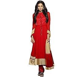 Vasu Saree For Women Red Hot Pure Chiffon Fashionable Anarkali Salwar Suit