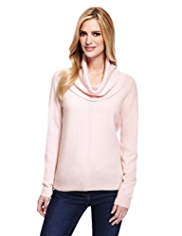 M&S Collection Pure Cashmere Cowl Neck Jumper