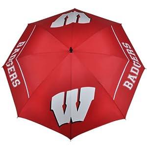 Buy NCAA Wisconsin Badgers 62-Inch WindSheer Hybrid Umbrella by Team Effort