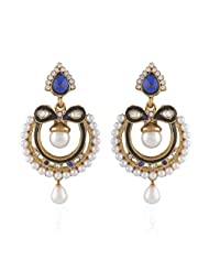 I Jewels Tradtional Gold Plated Elegantly Handcrafted Pair Of Fashion Earrings For Women. - B00N7INGV2