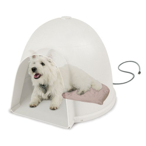 KH-Manufacturing-Lectro-Soft-Igloo-Style-Heated-Dog-Bed-Tan