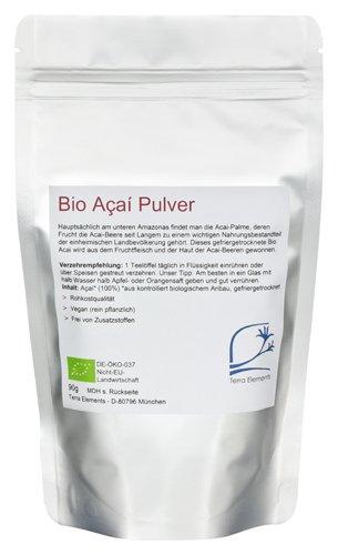 Terra Elements Bio Acai Pulver, 90 g