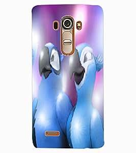 ColourCraft Love Birds Design Back Case Cover for LG G4