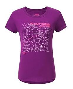 The First Outdoor Women's Short Sleeve Purified Cotton II T-shirt Size 14 UK Light Purple