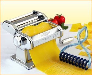 Atlas Pasta Machine with Pasta Cutter Set (Marcato Pastabike Cutter compare prices)