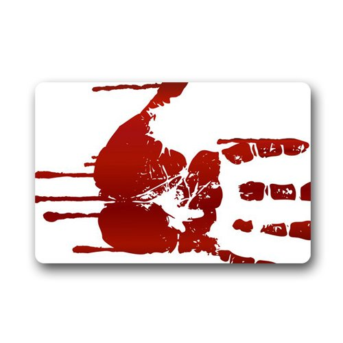 Mysterious Scary zombie Man hand Silhouette Shadow Custom Doormat (23.6x15.7 inch) Indoor Outdoor