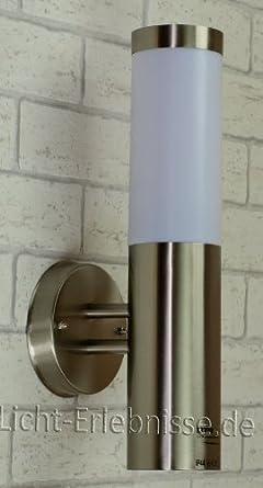 Edelstahl Wand-Außenleuchte IP44 Außenlampe Hoflampe Gartenlampe Gartenleuchte Wandlampe 1003C UP