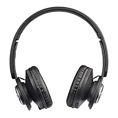 808 Shox Noise Isolating On-Ear Headphones with Built-In Bluetooth and Mic for Hands-Free Calls