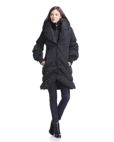 Elie Tahari Women's Emily Long Puffer Coat  [Black]