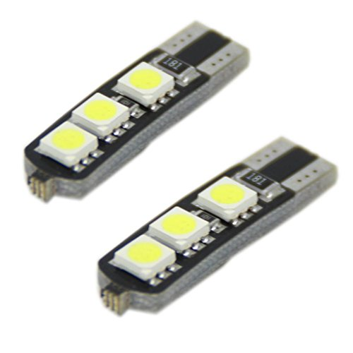 Generic High Bright Double Canbus T10 W5W 194 168 6-Smd 5050 Led Width Lamp Parking Llight Wedge Bulbs Color White